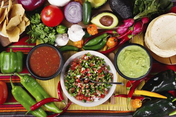 Mexikanische Salsa Guacamole