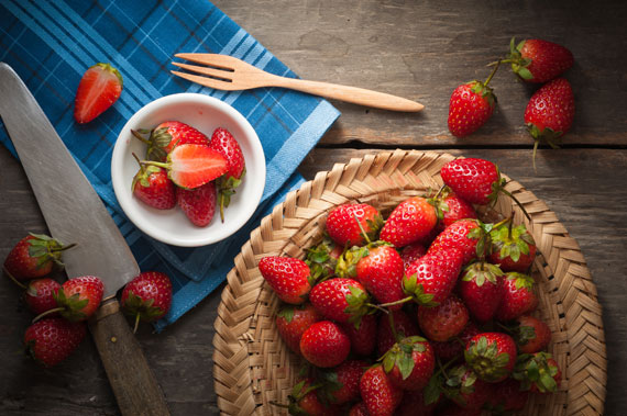 Erdbeeren in einer Schüssel