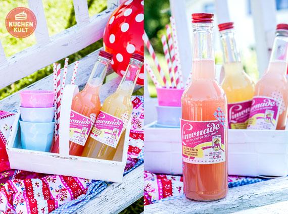Limonaden Etiketten ausdrucken nostalgisch Picknick