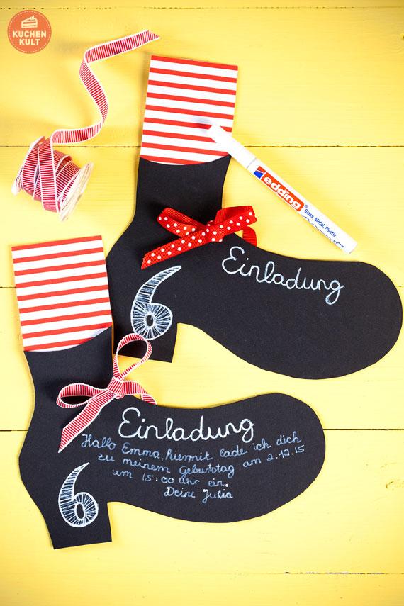 Einladungskarten für den Pippi Langstrumpf-Kindergeburtstag