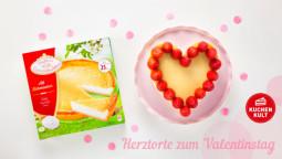 """Käsekuchen zum Valentinstag mit ganz viel """"Amore""""!"""