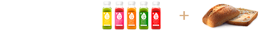 Mix and Match: Cold pressed juices & Landbrötchen