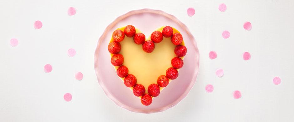 """Käsekuchenzum Valentinstag - mit ganz viel """"Amore""""!"""