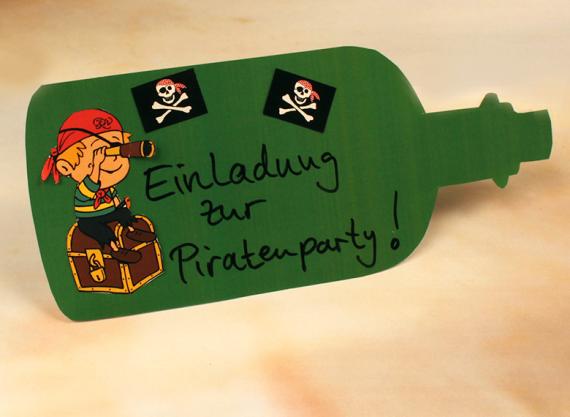 Großartig Kindergeburtstag EInladungskarte Piratenparty