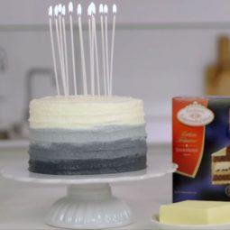 Videoanleitung: Geburtstagstorte im Ombre-Look