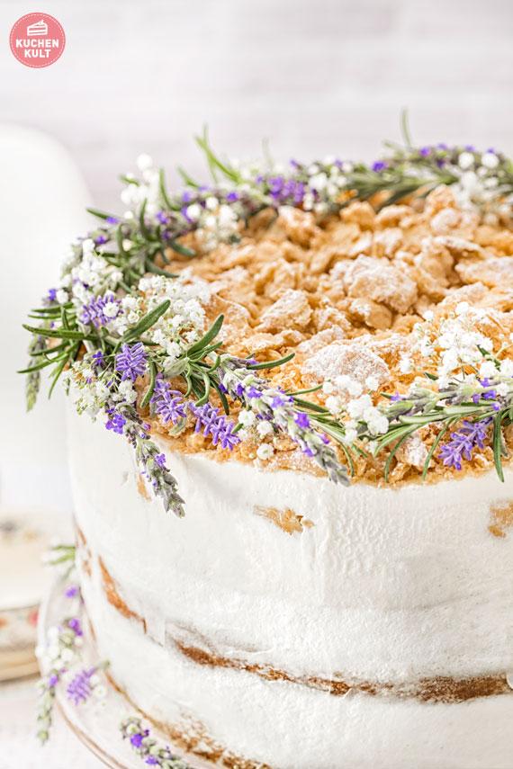 Hochzeitstorte, Modern Folk, Kräuterdeko Windbeutel Kirsch Torte ...
