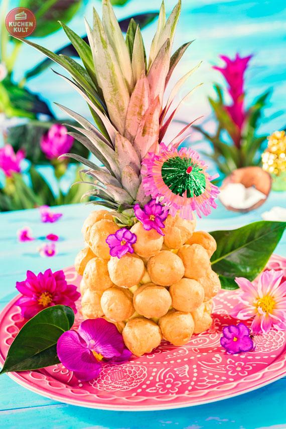 Ananas mit Windbeuteln Coppenrath und Wiese