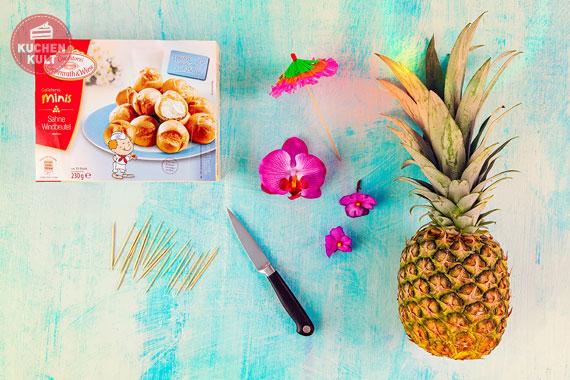 Ananas mit Windbeuteln
