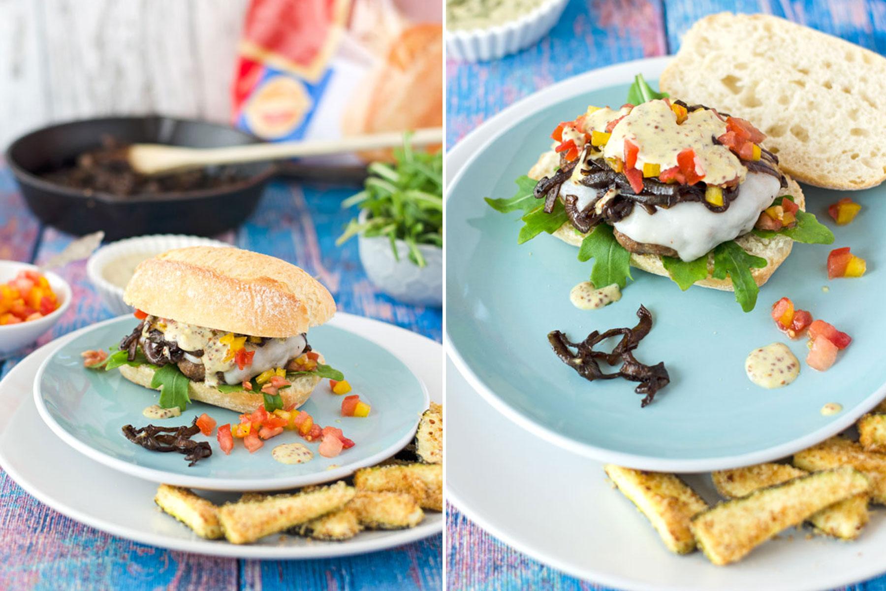 BURGER-MANIA: Lamm Burger mit Estragon-Senfsauce