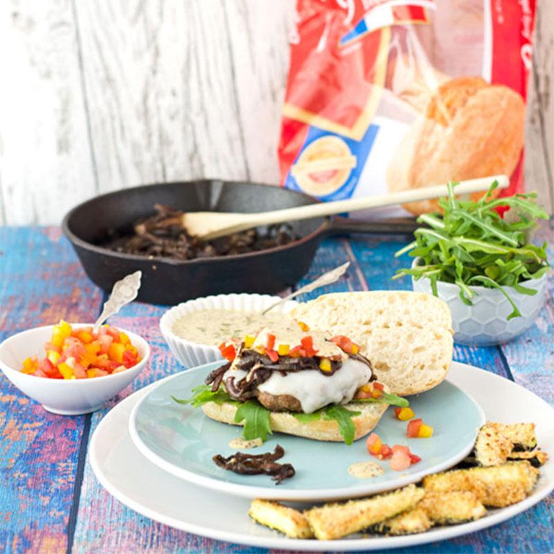 BURGER-MANIA: Lamm Burger mit Estragon-Senfsauce 2