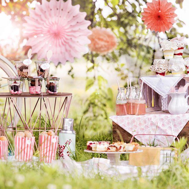 Rezept und Ideen für Picknick mit Kuchen und Torte