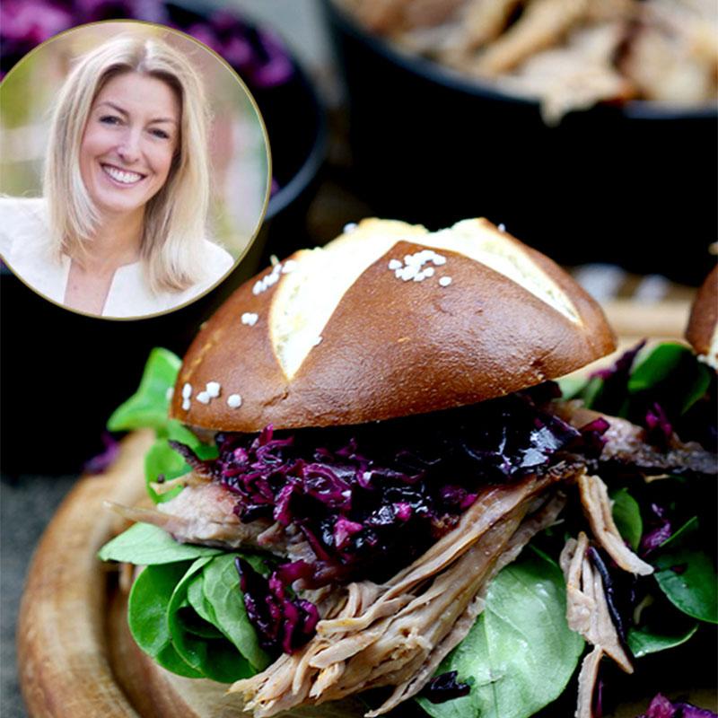 Pulled Pork Burger mit Rotkohlsalat – unsere BURGER-MANIA 2