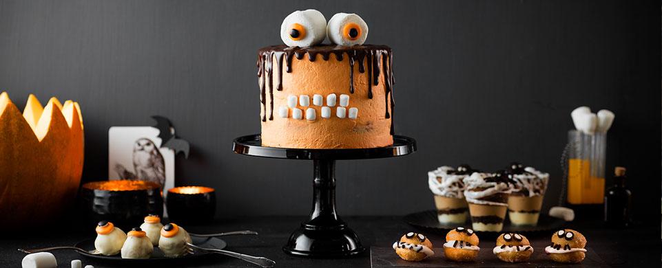 Monster-Torte und Snacks für Halloweenschockierend gut!
