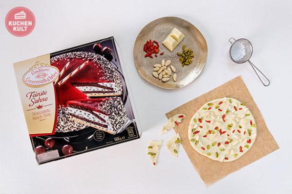 Coppenrath und Wiese Feinste Sahne Stracciatella Kirsch Torte