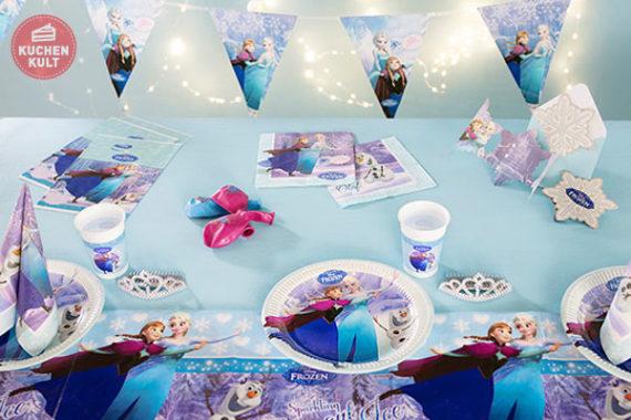 Partydeko Anna und Elsa Kindergeburtstag Tischdeko Set Eiskönigin