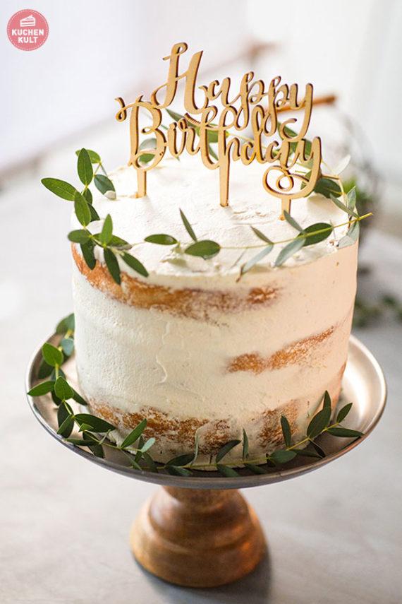 Layercake Naked Cake mit Kräutern Idee