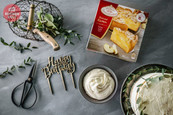 Lust auf Kuchen Feiner Apfel Coppenrath & Wiese als Geburtstagstorte