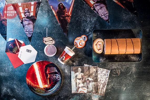 Tischdeko Set STAR WARS zum Kindergeburtstag, einfache Idee