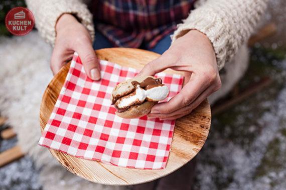 Nachtisch Grillen Wintergrillen Kuchen S'mores Marshmallows Brötchen Coppenrath & Wiese