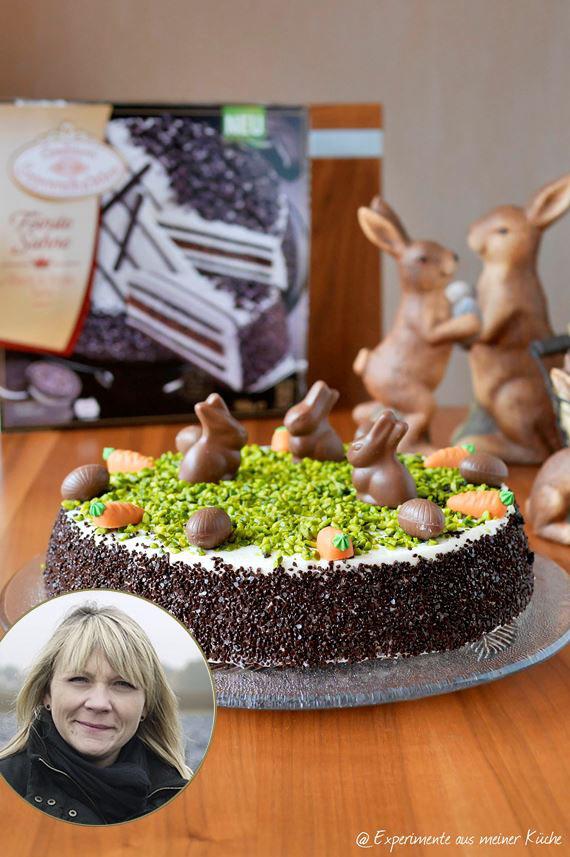 Ostertorte Torte Ostern Yvonne Erfurth Experimente aus meiner Küche Black & White Torte einfaches Rezept Coppenrath & Wiese