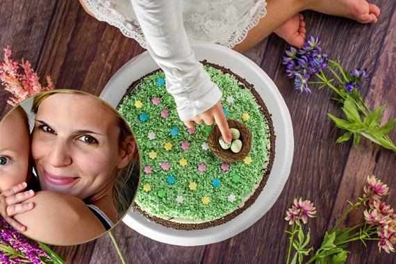 Ostertorte Torte Ostern Marisa Hart Baby Kind und Meer Black & White Torte einfaches Rezept Coppenrath & Wiese