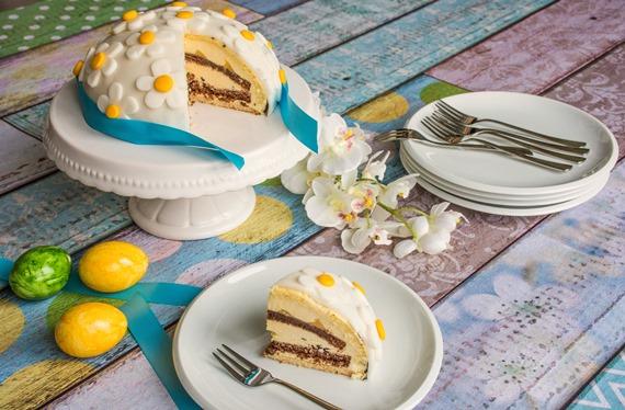 Ostertorte Torte Ostern einfaches Rezept Eierlikör-Torte Coppenrath & Wiese Torten-Träume Eierlikör Kuppeltorte Marisa Hart Baby Kind und Meer
