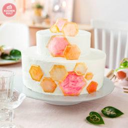 Geometrie auf Hochzeitstorte