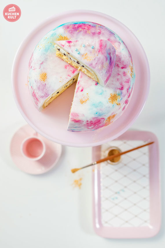 Aquarelltorte Aquarell-Torte watercolor cake watercolorcake Anleitung einfaches Rezept