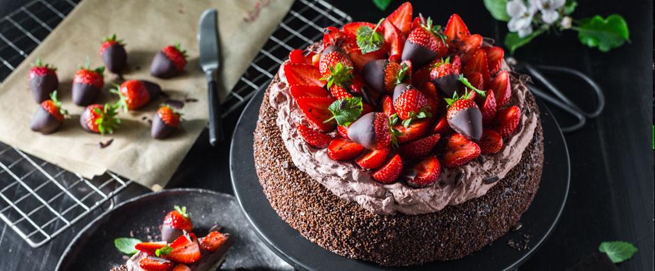 SchnelleSchokoladen-Erdbeer-Torte