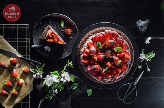 schokoladen erdbeer torte rezept schnelle anleitung selber machen. Black Bedroom Furniture Sets. Home Design Ideas