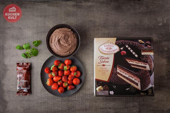 Schokoladen-Erdbeer-Torte einfach schnell Coppenrath & Wiese Mousse au Chocolat Torte