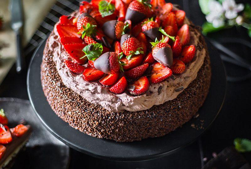 Schnelle Schokoladen-Erdbeer-Torte 1