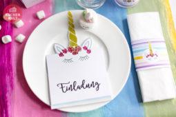 Einhorn-Kult: Partystyling-Ideen & free printables!