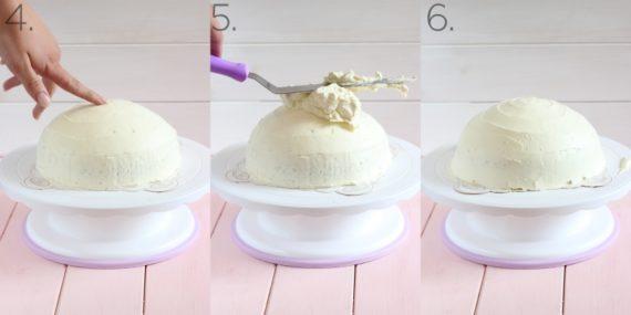 einfache schnelle Einhorn Torte Einhorntorte leichtes Rezept 2