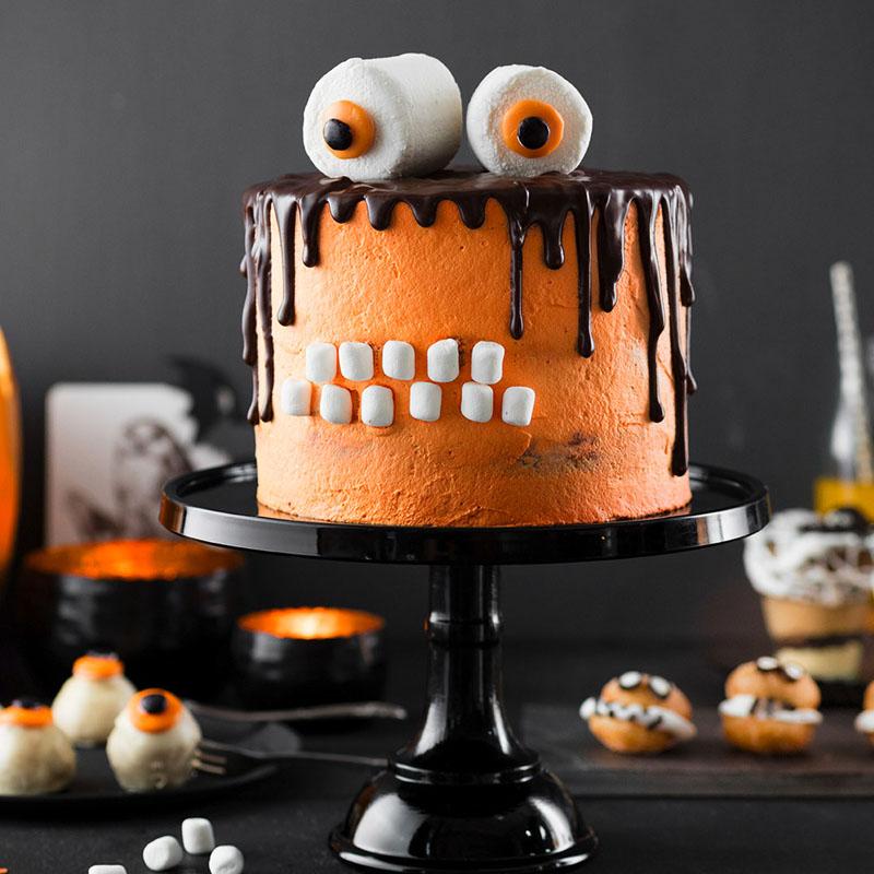 monstertorte rezept halloween snacks torte selber machen. Black Bedroom Furniture Sets. Home Design Ideas