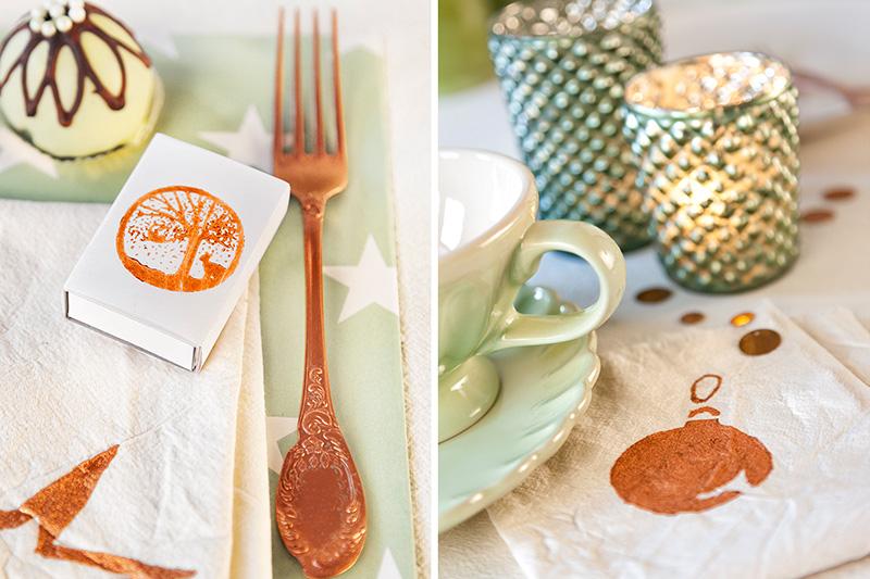 Dekoration Weihnachtstafel mit Weihnachtsdessert Cake Pop