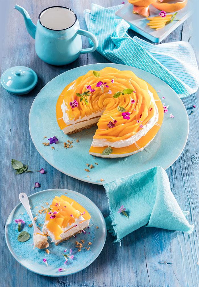Mango Sahne Torte mit Frischkäse Rezept