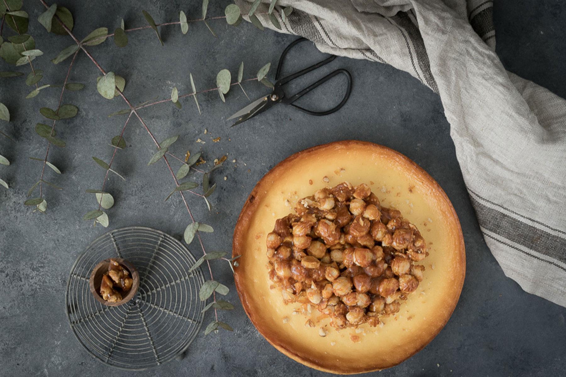 Skandalös simpel: Käsekuchen mit Macadamia-Nüssen