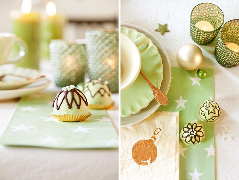 Weihnachtsdessert Cake Pops als Pralinen