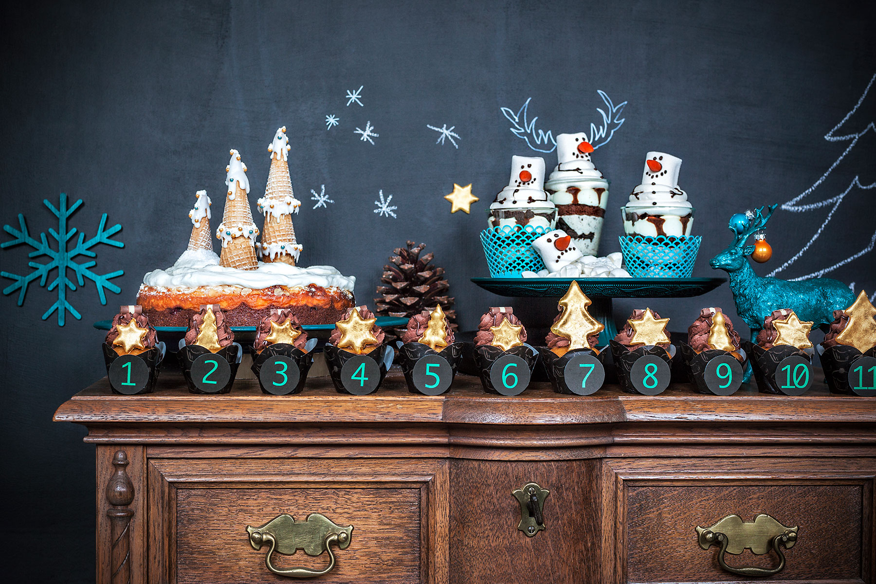 dessert f r weihnachten schnelle weihnachts cupcakes u v. Black Bedroom Furniture Sets. Home Design Ideas