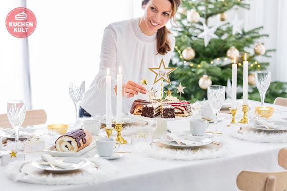 Weihnachten Weihnachtstorten Torten Styling Tischdeko
