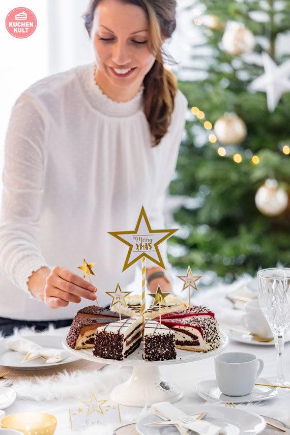 Weihnachten Weihnachtstorten Feinste Sahne Unsere Besten Coppenrath & WieseWeihnachten Weihnachtstorten Torten Styling Tischdeko