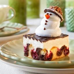 Weihnachtskuchen Rezept ohne backen mit Schneemann