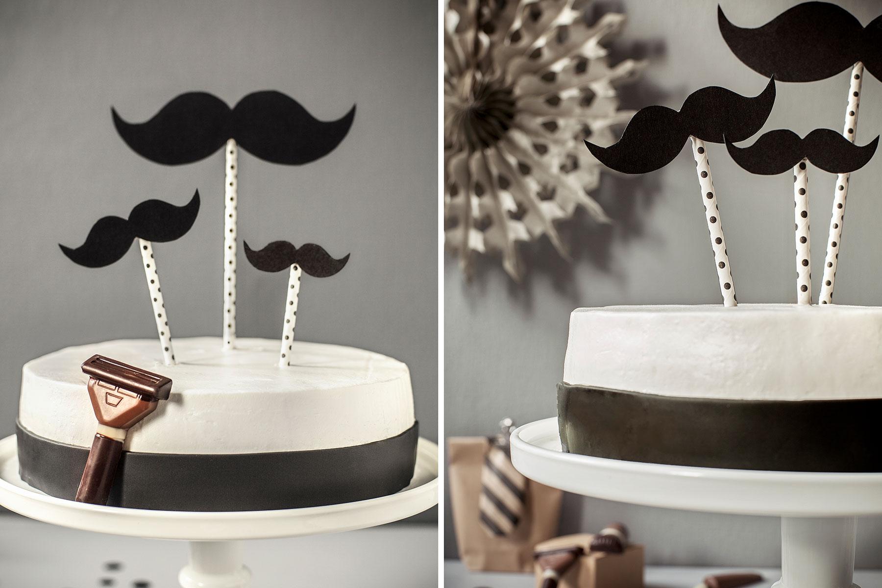 Geburtstagstorte Rezept und Dekoideen für Männer mit Bart