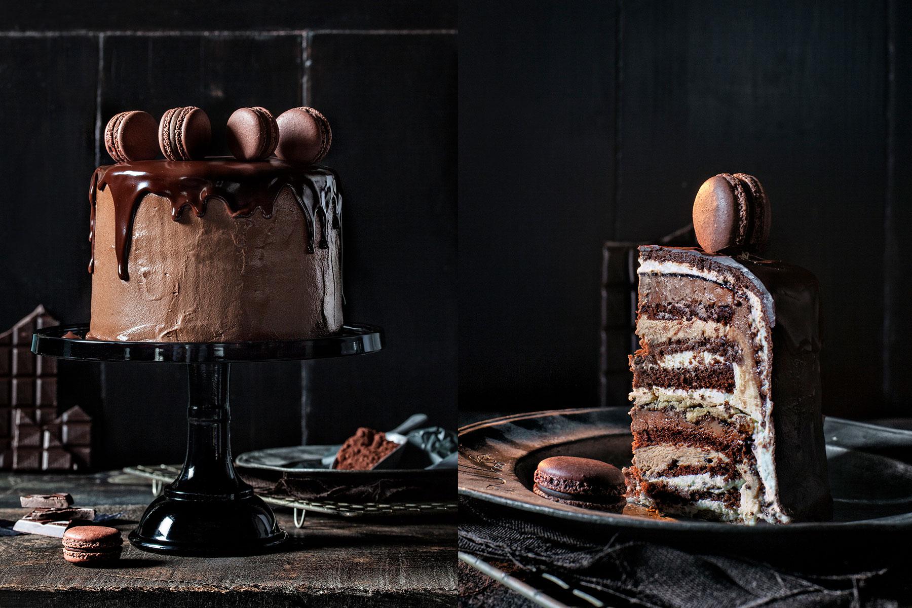 Geburtstagstorte Rezept und Idee mit Schokolade verziert