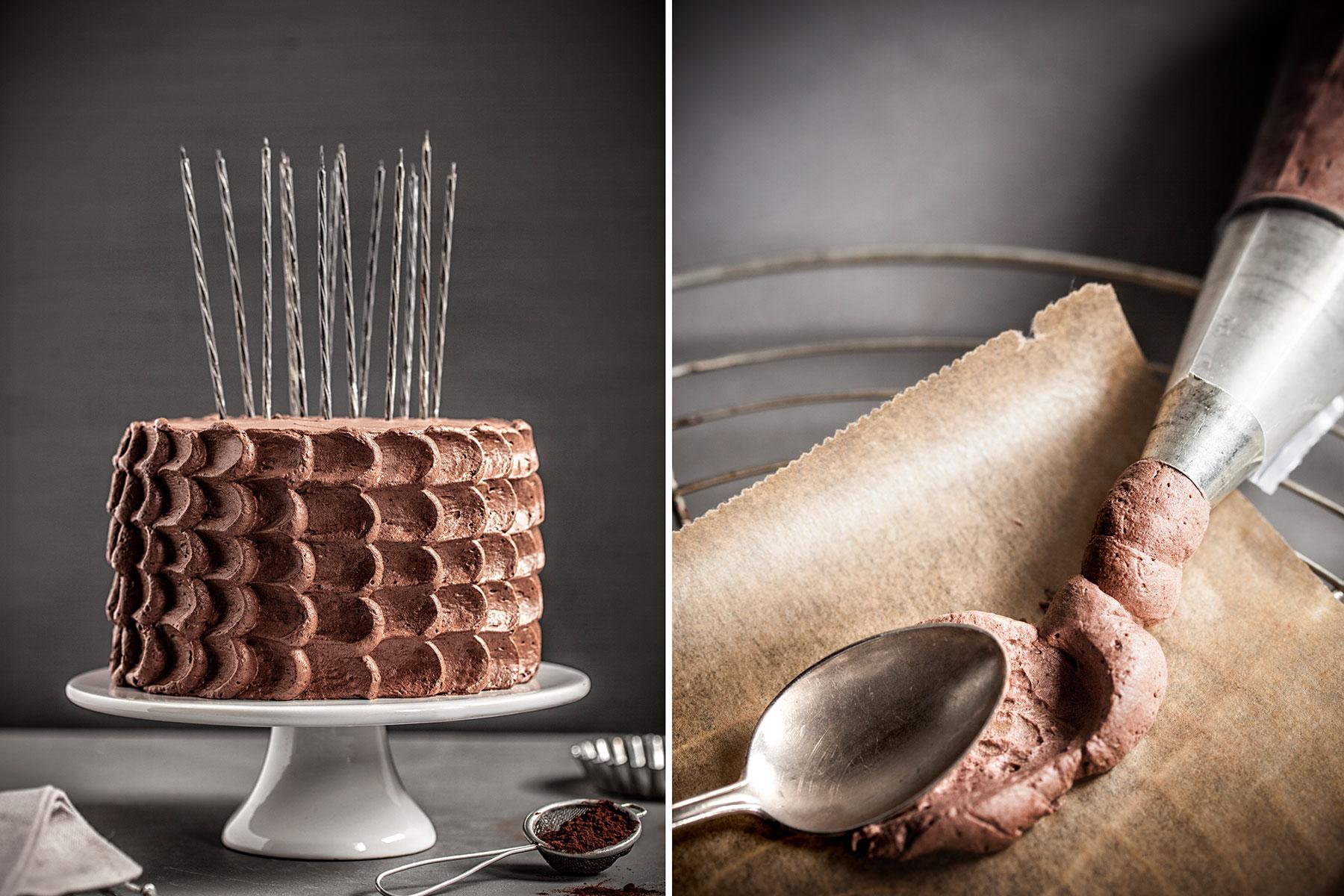 Geburtstagstorte Rezept und Zubereitung mit Schokolade