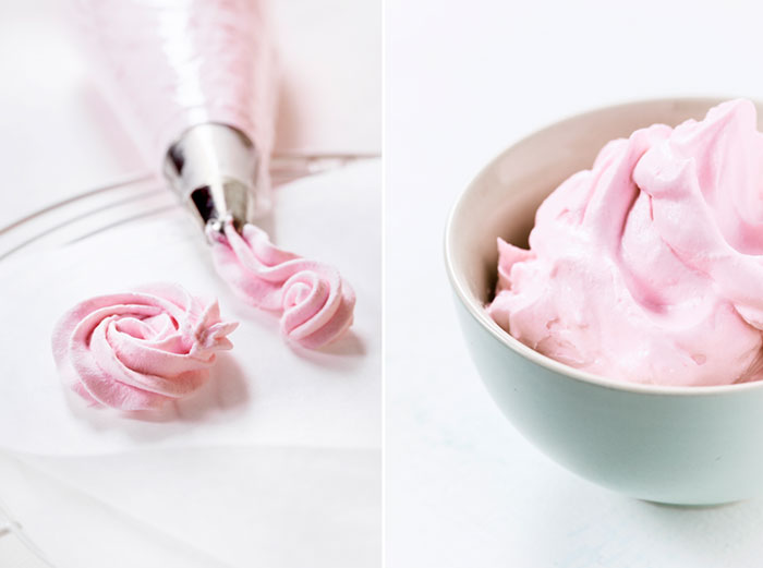 Geburtstagstorte selbst dekoriert mit Rosen aus Sahne