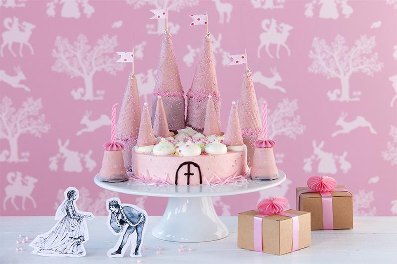 Kindergeburtstagstorte für Mädchen als Prinzessinnenschloss