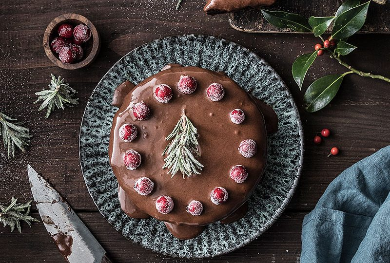 Christmas Chocolate Cake 1