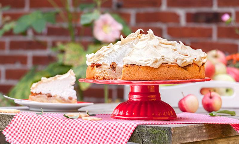 Apfelkuchen selbstgemacht mit köstlichem Baiser